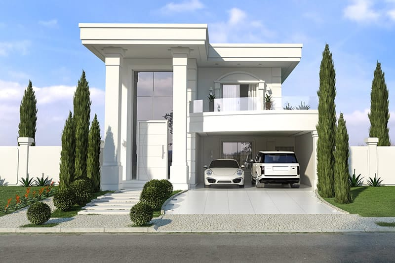 Neoclassical house plan plans of houses models and for Foto casa classica