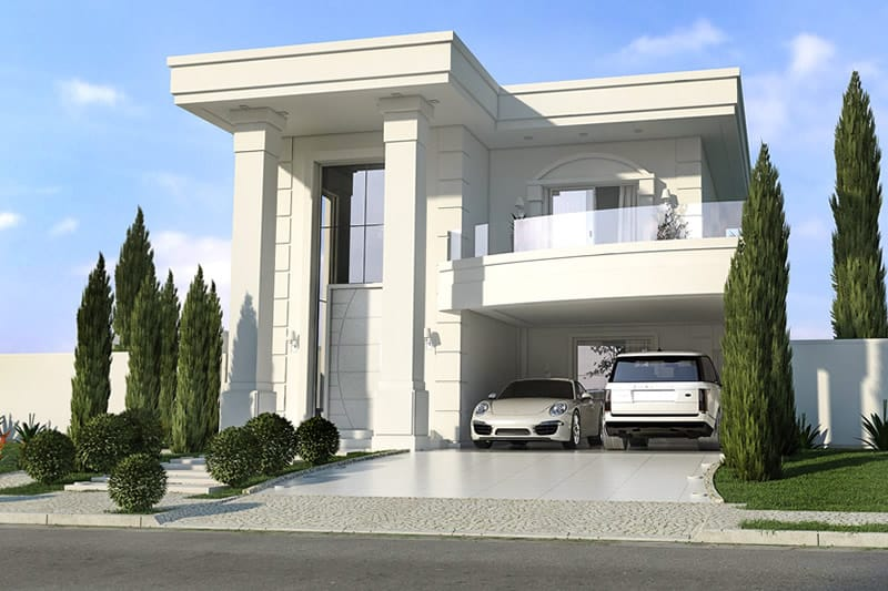 ... Neoclassical House Plan ...