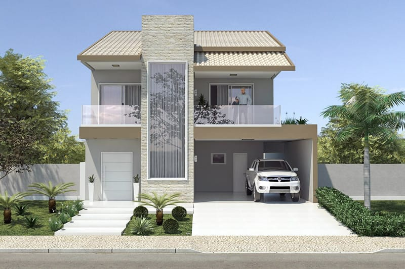 ... House Plan With Two Waters Roof ...