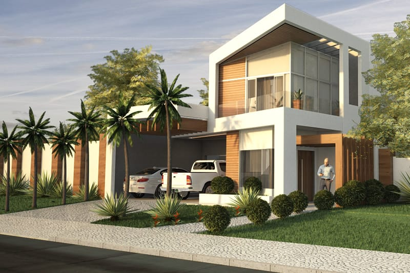 Two Storey House With Wood Flooring Plans Of Houses Models And